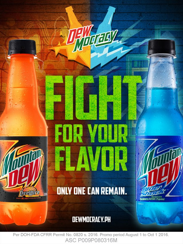 mountain dew invites you to vote wisely for dewmocracy clavel